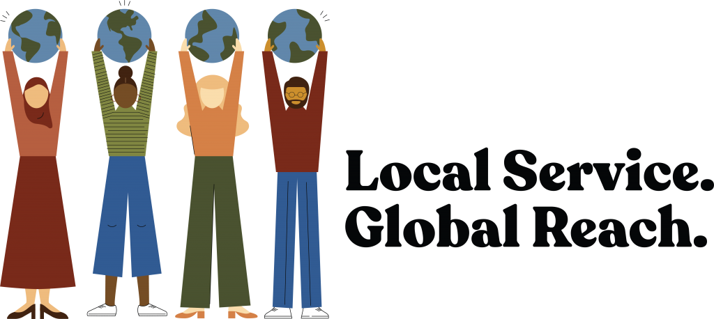 Local Service. Global Reach. Logo